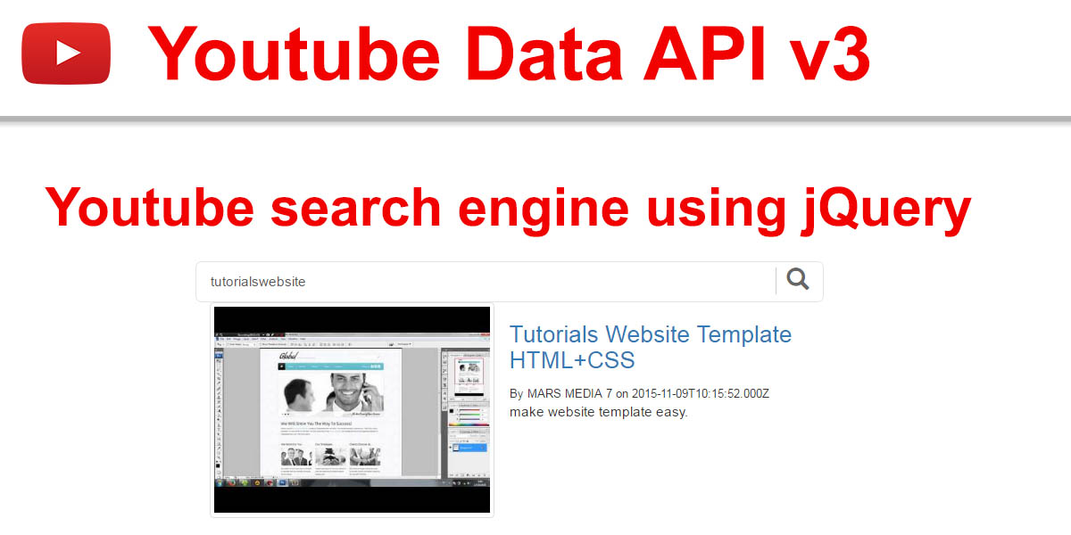 How To Create Youtube Search Engine Using JQuery