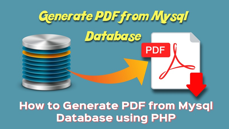 How to Generate PDF from Mysql Database using PHP