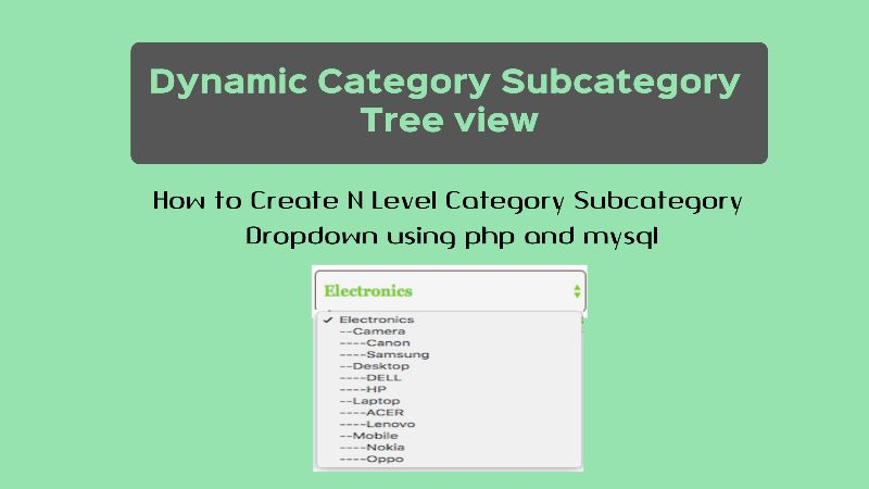 How to Create Dynamic Category Subcategory Tree using PHP