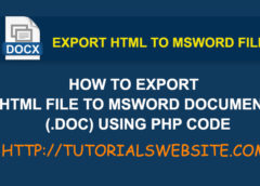 How to export HTML file to MS Word document (.doc) using php code