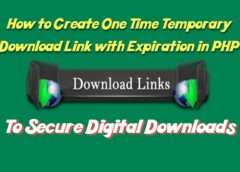 How to Create One Time Temporary Download Link with Expiration in PHP