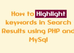 Highlight Keywords in Search Results using PHP and MySql